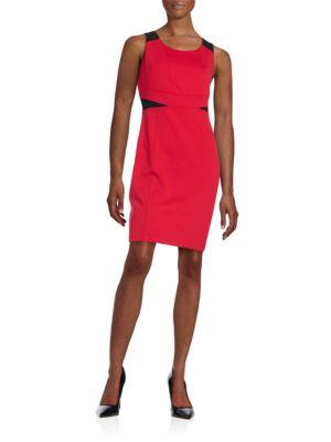 Darted Colorblocked Sheath Dress by Karl Lagerfeld Paris