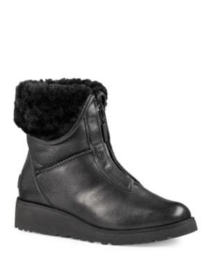 Caleigh Zip-Front Wedge Boots by UGG