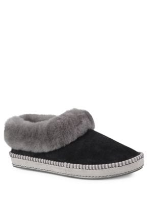 Buy Wrin Leisure Fur-Trimmed Leather Slippers by UGG online