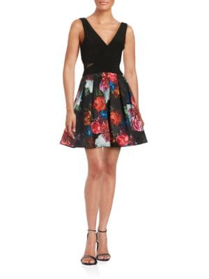 Floral Pleated Dress by Xscape