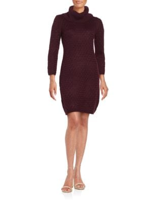 Textured Knit Sweater Dress by Calvin Klein