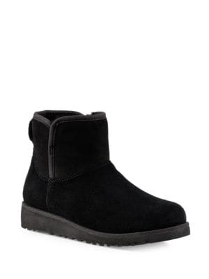 Katalina Kids Fur-Trimmed Leather Ankle Boots by UGG