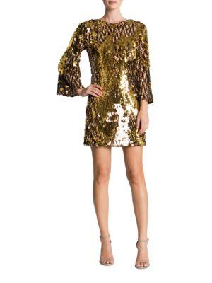 Lauren Sequined Shift Dress by Dress The Population