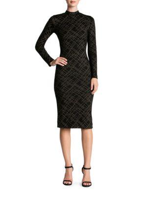 Quinn Metallic Embellished Midi Dress by Dress The Population