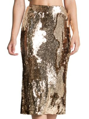 Sasha Sequin Midi Skirt by Dress The Population
