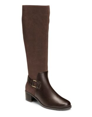After Hours Suede Knee High Boots by Aerosoles