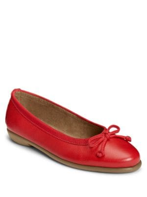 Fast Bet Leather Ballet Flats by Aerosoles