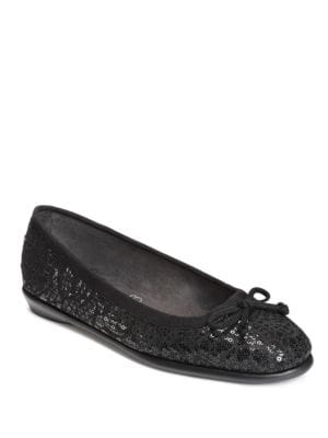 Fast Bet Bow Sequin Flats by Aerosoles