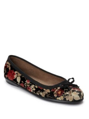 Fast Bet Bow Floral Flats by Aerosoles