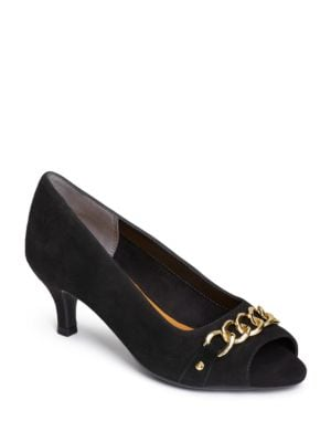 Made of Honor Leather Pumps by Aerosoles