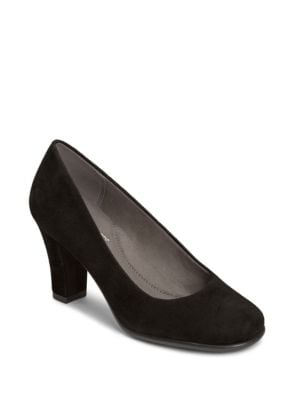 Buy Major Role Suede Slip-On Pumps by Aerosoles online