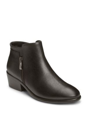 Mythology Leather Moto Ankle Boots by Aerosoles