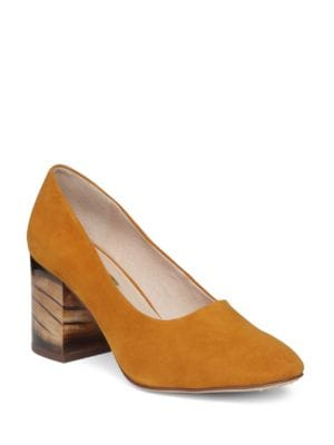 Zeldia Block Heel Suede Pumps by Louise et Cie
