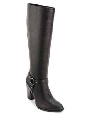 Buy Fareeda Leather Knee-High Boots by Lauren Ralph Lauren online