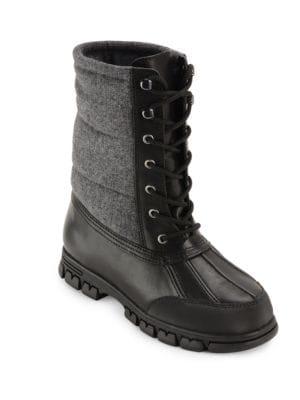 Buy Quinlyn Leather Mid-Calf Boots by Lauren Ralph Lauren online