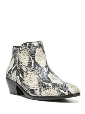 Petty Printed Leather Ankle Boots by Sam Edelman