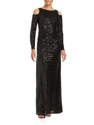 Cold Shoulder Sequined Gown by Vince Camuto