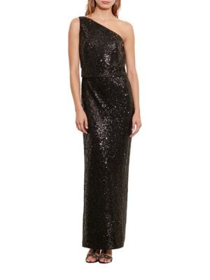 Sequined One-Shoulder Gown by Lauren Ralph Lauren