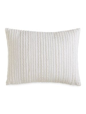 City Pleat Embroidered Decorative Pillow