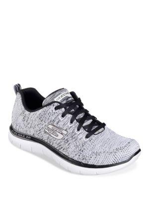 Flex Appeal Knit Lace-Up Sneakers by Skechers