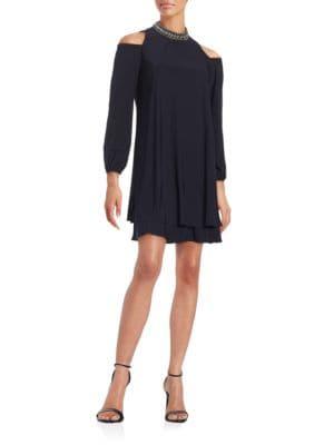 Cold Shoulder Shift Dress by Xscape