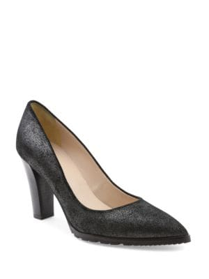 Sandy Suede Point-Toe Pumps by Andre Assous
