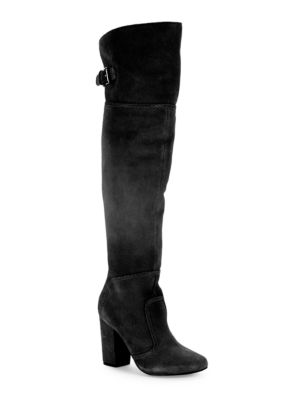 Jena Suede Over-the-Knee Boots by Nine West