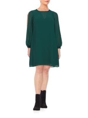 Long-Sleeve Shift Dress by Vince Camuto Plus