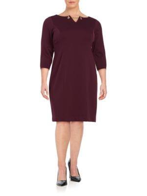 Three-Quarter-Sleeve Sheath Dress by Ivanka Trump