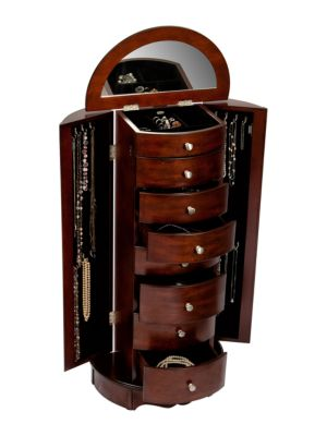 Corsica Wooden Jewelry Armoire 500047467790