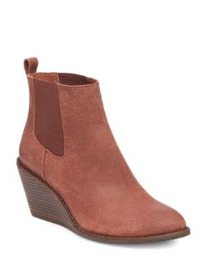 Pallet Leather Wedge Ankle Boots by Lucky Brand