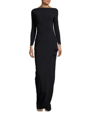 Cassandre Ruched Boatneck Gown by La Petite Robe di Chiara Boni