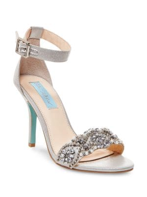 Gina Rhinestone Sandals by Betsey Johnson