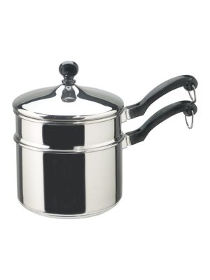 Classic Stainless Series 2Quart Covered Double Boiler