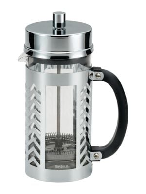 8-Cup Chevron Coffee Glass and Stainless Steel French Press