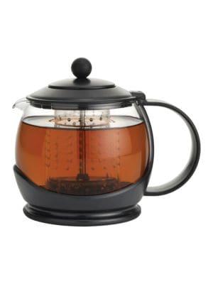 Prosperity Borosilicate Glass Tea Pot with Plastic Frame42 oz