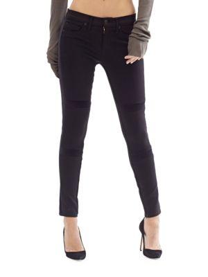 Amory Velvet Inset Skinny Jeans 500047520879