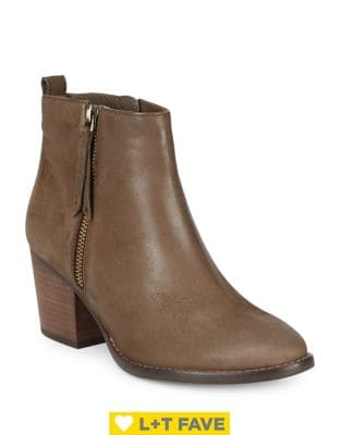 Buy Vegas Leather Almond Toe Ankle-Boots by Blondo online
