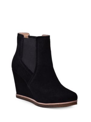 Tara Suede Wedge Ankle Boots by Splendid
