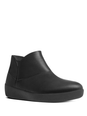 Supermod TM Round Toe Leather Ankle Boots by FitFlop