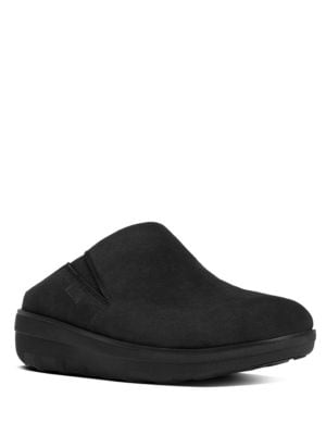 Loaff TM Suede Round Toe Clogs by FitFlop