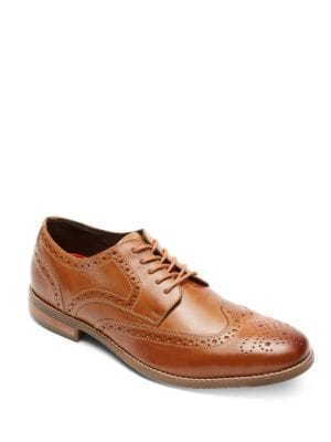 Leather Wing-Tip Oxfords by Rockport