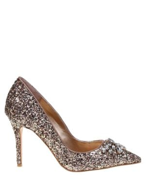 Eleanora Glitter Stiletto Pumps by Belle Badgley Mischka