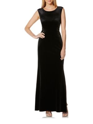 Embellished Velvet Gown by Laundry by Shelli Segal