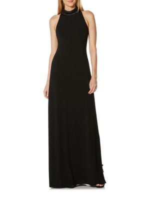 Embellished Jersey Halter Gown by Laundry by Shelli Segal
