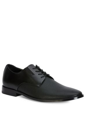 Naemon Diamond Perforated Leather Dress Shoes by Calvin Klein
