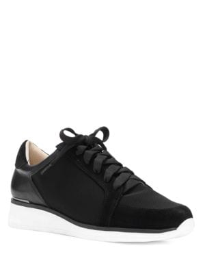 Berlena Almond Toe Leather Sneakers by Louise et Cie