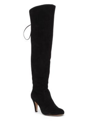 Cherline Lace-Up Leather Thigh-High Boots by Vince Camuto