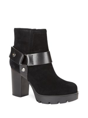 Buy Suede Platform High-Heel Boots by Karl Lagerfeld Paris online