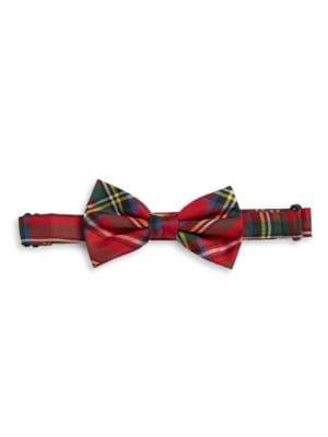 Silk Plaid ClipOn Bow Tie